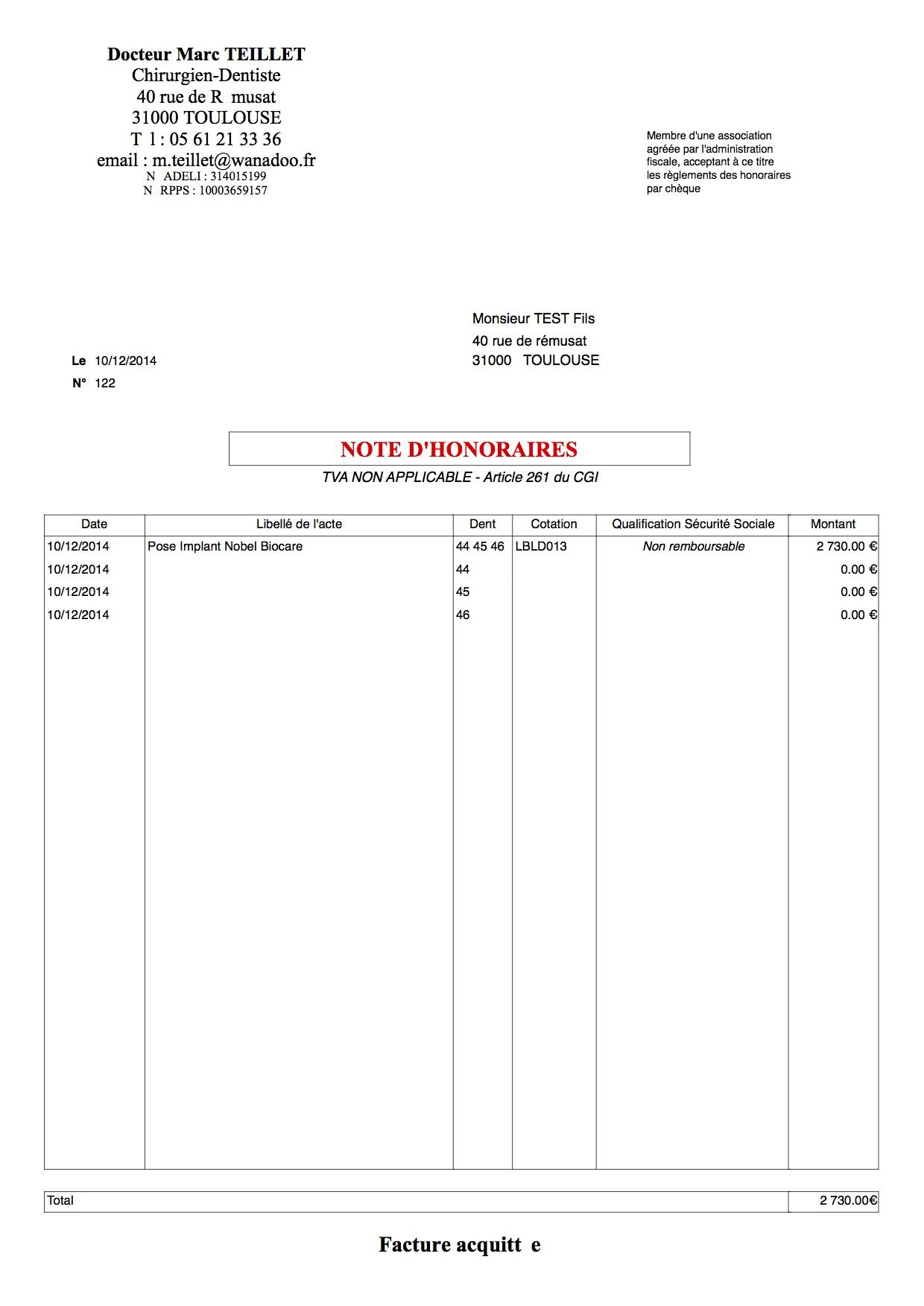 Note d 39 honoraires ligne que l 39 on ne peut pas d cocher for Note honoraire particulier